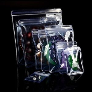 Pvc Anti oxidation Plastic Bags Clear Zip Lock Jewelry Packaging Pouch