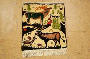 C1930s Antique Persian Bijar Rug 1 3x1 7 Elkdeerso Much Details In A Small Rug