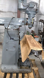 Bridgeport 2j Vertical Milling Machine 9 X 42 Table see Description