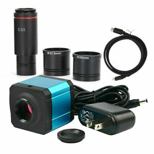 Usb 14mp Hdmi Microscope Digital Camera Ccd Electronic Eyepiece W adapter Lens