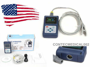 Vet Animal Pulse Oximeter Veterinary Spo2 Monitor With Tongue Ear Probe usb sw