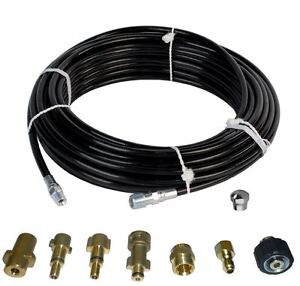 Sewer Jetter Kit 50 X 1 8 Hose And Nozzle 1 To 3