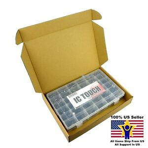 36value 1000pcs Electrolytic Capacitor Assortment Box Kit Us Seller Kitb0049