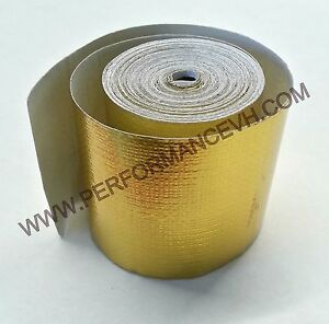 2 x15 Self Adhesive Reflective Gold Heat Wrap Barrier Tape 15 Feet Roll