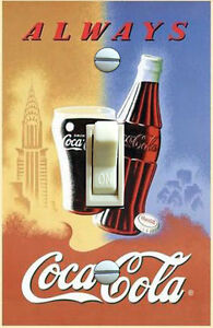 COCA COLA New York Vintage Travel Poster Single Switch Plate ***FREE Shipping***