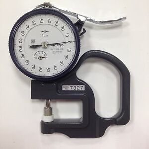 1 Pcs Brand New Mitutoyo 7327 Dial Thickness Gage 0 10 0 001mm