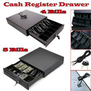 New Pos Cash Drawer 4 5bill 5coin Tray Compatible With Star And Epson Printers
