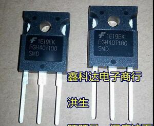10 Pcs Fgh40t100smd Fgh40t100 1000v 40a Field Stop Trench Igbt To 247 New