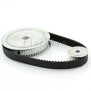 Htd5m 60 20 Teeth Wide 16 Pitch 5mm Timing Pulley Belt Set Kit Reducer Ratio 3 1