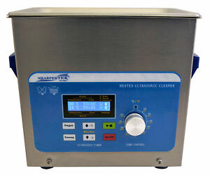 Heated Ultrasonic Cleaner By Sharpertek With Sweep Xps120 3l 3 4 Gal