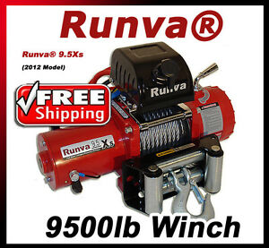 9500lb New Runva Off Road 12v Towing Recovery Electric Winch Kit W Short Drum