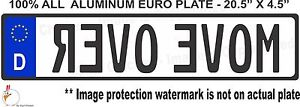 Euro Style Tag Bmw European License Plate Move Over