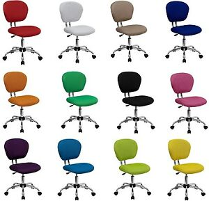 Office Computer Chair Wheels Spinning Desk Gaming Home Furniture Mid back Chrome