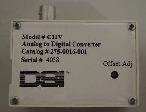 Dsi Analog To Digital Converter Model C11v Catalog 275 0016 001