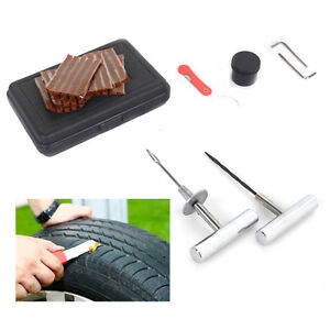 37pcs Car Tubeless Tire Repair Plugs Kit Rasp Needle Patch Fix Tools Kit