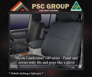 Seat Cover Fits Toyota Landcruiser 100 Series Front Waterproof Premium Neoprene