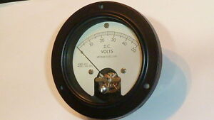 Vintage Voltmeter D c Volts Model 365 393 New A m Mr36w050dcvvr Military Spec
