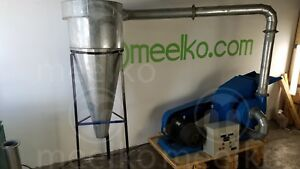 Hammer Mill With Cyclone 22kw 3 Phase Electric Engine Usa Stock