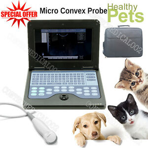 Vet Veterinary Laptop Ultrasound Scanner Machine For Dog cat animal micro Convex