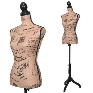 Light Brown Female Mannequin Torso Clothing Display W Black Tripod Stand New