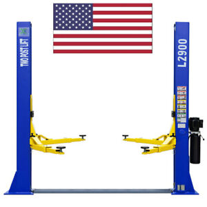 Two Post L 2900 Auto Car Lift Hoist 9 000 Lb Capacity Floor Plate Symmetric