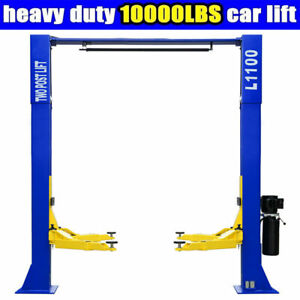 Two Post Car Lift L1100 10 000lbs Capacity Auto Truck Hoist Overhead Clear Floor