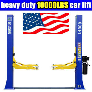 A 10 000 Lbs L1000 Two Post Lift Car Auto Truck Hoist 220v Great Quality
