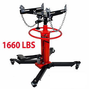 A 1660 Lbs Transmission Jack 2 Stage Hydraulic W 360 For Car Lift 0 75 Ton