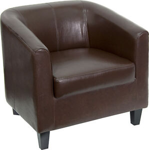 Flash Furniture Brown Leather Office Guest Chair reception Chair Bt 873 bn gg