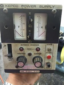 Kepco Power Supply Ate 25 4 Vintage