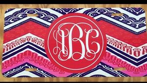 Chevron Lilly Pulitzer Inspired Monogram Initials License Plate New Personalized