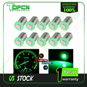 10pcs Green Led 1895 Dash Instrument Cluster Gauge Light Replace Car Bulbs Ba9s