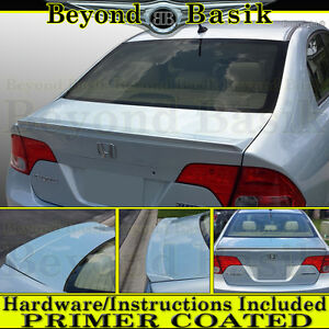 2006 2011 Honda Civic 4dr Sedan Lip Factory Style Trunk Spoiler Wing Primer