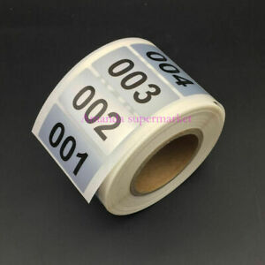 1000 Labels 1 57 0 78 Consecutive Number Inventory Stickers Silver Waterproof