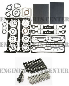 Mahle Head Gasket Set Bolts For Mercruiser Chevy Marine 350 5 7 W Center Bolt
