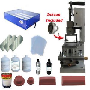 Fully Equipped pad Printing Kit Manual Machine Print Logo On Ball Pencil Etc new