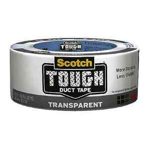 Scotch Tough Duct Tape 1 88 In X 20 Yds Transparent 1 Ea pack Of 6