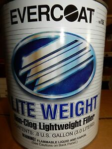 Evercoat 156 Lite Weight Body Filler Putty Dent Auto Paint 0 8 Gallon 3 Ltr