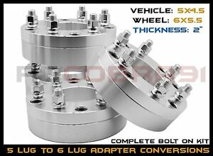 4 Pc 5x4 5 5x114 3 Mm To 6x5 5 6x139 7 Mm Conversion Wheel Spacers 2 Thick