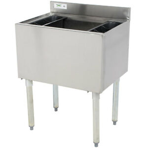 18 X 24 Underbar Stainless Steel Restaurant Bar Ice Bin 77 Lb Ice Capacity