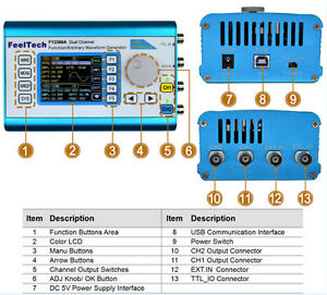 2mhz Arbitrary Waveform Dual Channel Signal Generator 200msa s Frequency Counter