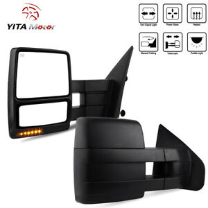 Yitamotor Pair Power Heated Towing Mirrors For 07 14 Ford F150 Led Signal Puddle