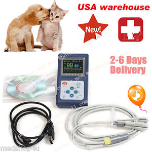 Us Handheld Veterinary Pulse Oximeter Cms60dvet pr Spo2 Monitor pc Software