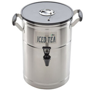 3 Gallon Satin finish Stainless Steel Iced Tea Beverage Dispenser