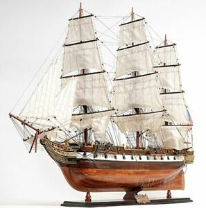 Uss Constellation Frigate Tall Ship Lage 56 Built Wooden Model Ship Assembled