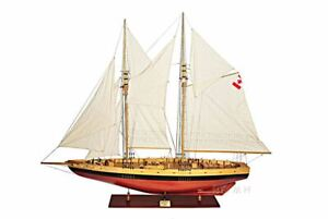 Bluenose Ii Schooner Sailboat 100 X Large Built Wooden Model Ship Assembled
