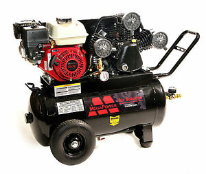 New 6 5 Hp Honda Engine Portable Air Compressor 20 Gallon Tank Single Outlet