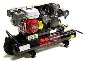 Mega Mp 6510g 6 5 hp 10 gallon 135 psi Gas powered Belt Drive Air Compressor