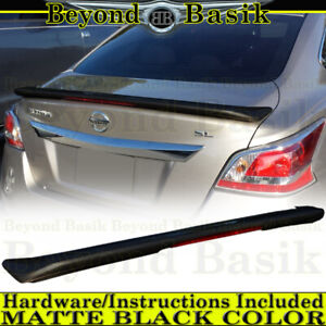 For 2013 2014 2015 Altima Sedan Matte Black Factory Style Spoiler Wing W Led