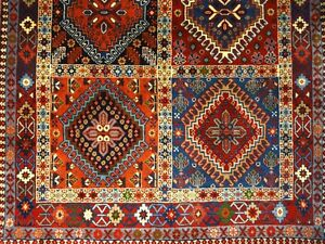 C 1970 Yalameh Antique Persian Exquisite Hand Made Rug 3 4 X 4 10